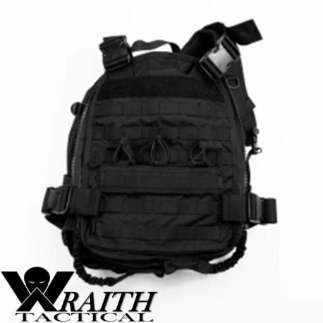Wraith Tactical CARR Pack GEN 3 Black Deployed Front