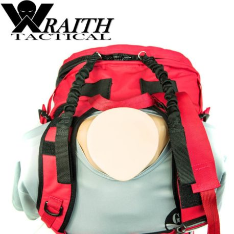 Wraith Tactical CARR Pack Gen 2 Red With Bungee Straps