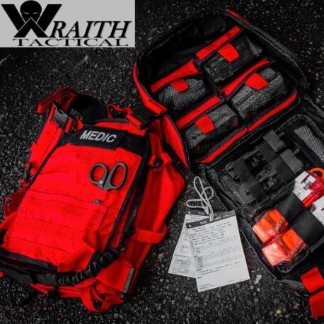 Wraith Tactical CARR Pack Gen 2+ Red With Large Utility Bag Open