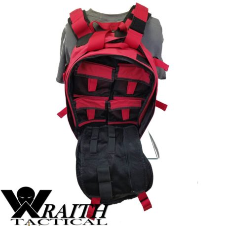 Wraith Tactical CARR Pack Red Back With Medical Bag Open
